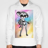 anime Hoodies featuring Anime Raccoon by Simone Gatterwe
