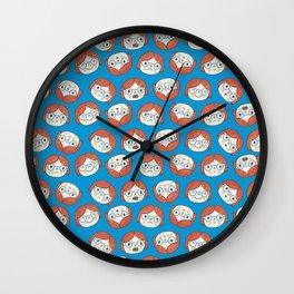 Pattern Project #13 / Mood Swings Wall Clock