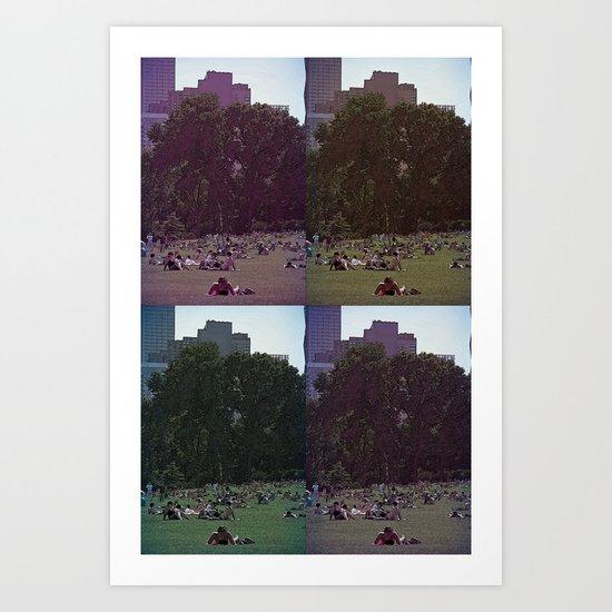 Saturday, In The Park Art Print