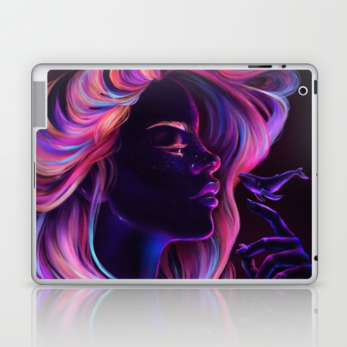 Blacklight Babe Laptop & iPad Skin