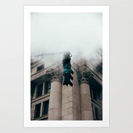 Steam in the city Art Print