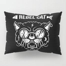 Rebel cat Pillow Sham
