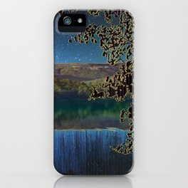 Reservoir of Time in Mountains of Memory iPhone Case
