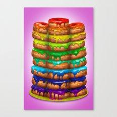 Donuts I 'Sweet Rainbow' Canvas Print