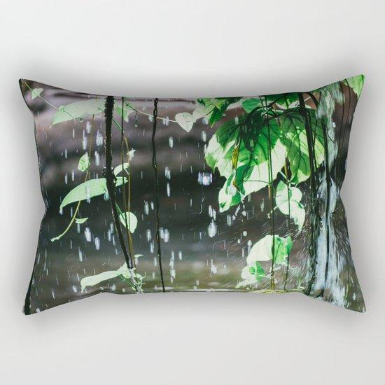 Behind A Waterfall Rectangular Pillow
