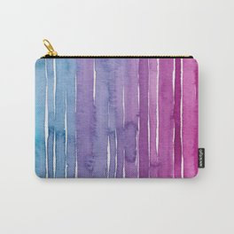 Ombre Watercolor - Turquoise & Magenta Carry-All Pouch