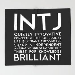 INTJ (black version) Throw Blanket