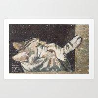 Cat's Night Art Print