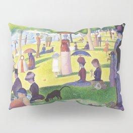 Sunday A La Grande Jatte Painting French Impressionism Art Georges Seurat Juxtapose Dot Painting Pillow Sham