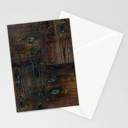 Old boards, old wood, aged wood, wood Stationery Cards