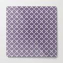 Dark Violet Plum and White Pattern by bimbys