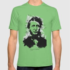 Henry David Thoreau Grass Mens Fitted Tee X-LARGE