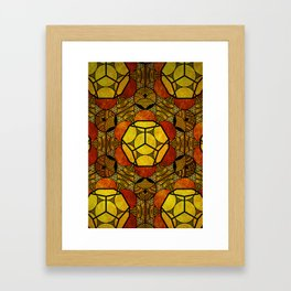 Sacred Geometry for your daily life -  Platonic Solids - ETHER COLOR Framed Art Print