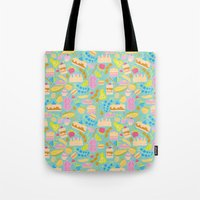 baking Tote Bags featuring Baking pattern by Calidurge