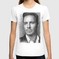 prometheus T-shirts featuring Michael Fassbender - Portrait by Thubakabra