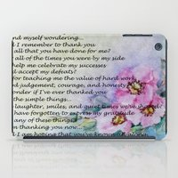 poem iPad Cases featuring A Mother's Day Poem by Frankie Cat