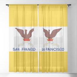 Flag of San Francisco Sheer Curtain