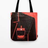 mad men Tote Bags featuring Mad Men Poster Print by Take Heed