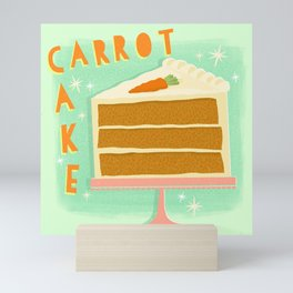 All American Classic Carrot Cake Mini Art Print
