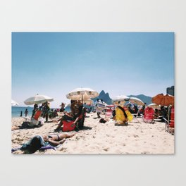 Ipanema beach in the middle of summer Canvas Print