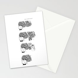 Big Hair Sequence Stationery Cards