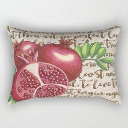 Pomegranate, Love Anew, Persephone, fruit art, love poem, food art, rebirth, fertility goddess Rectangular Pillow