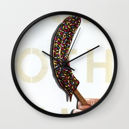 DO NOTHING Frozen Banana with sprinkles   Wall Clock