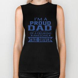 I'M A PROUD TAXI DRIVER'S DAD Biker Tank