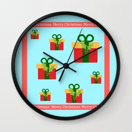 Merry Christmas and christmas gifts Wall Clock