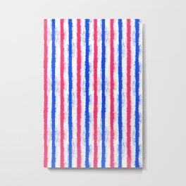 pink no blue bounding splatter stripes Metal Print