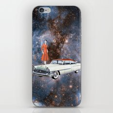 Autonomous car around the Universe iPhone Skin