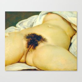 (BIG) Origin of the World : L'Origine du monde by Gustave Courbet Canvas Print