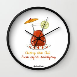 Chilling with Chai Wall Clock