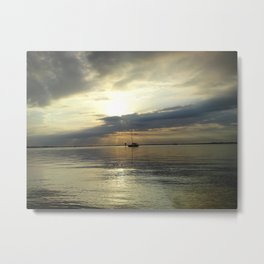 The Lonely Ship Metal Print