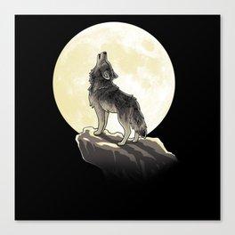 Howling night Canvas Print