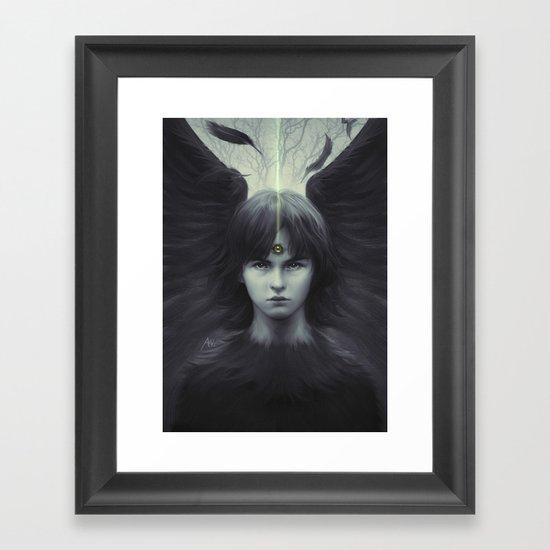 Eye of Raven Framed Art Print