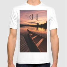 Mersey River Glow MEDIUM White Mens Fitted Tee