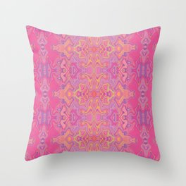 Mad pink marble 1 Throw Pillow
