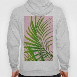 Simple palm leaves paradise in pink Hoody