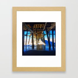 'Under The Pier' Framed Art Print