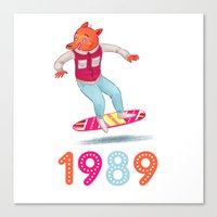 1989 Canvas Prints featuring 1989 by Laura Wood
