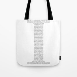 "Quote from Ayn Rand's ""Anthem"" Tote Bag"