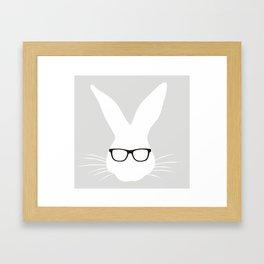 Geeky Bunny Framed Art Print