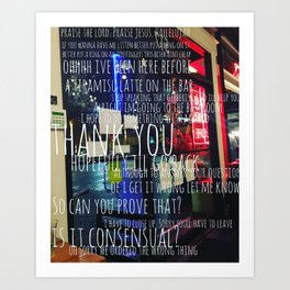 Conversation in a Cafe Art Print