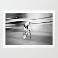 cycling Art Prints featuring Cycling by Doc Maowi