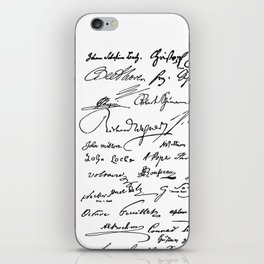 Famous Autographs of the late 1800s iPhone Skin