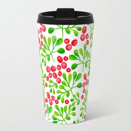 Christmas Holly Berries Travel Mug