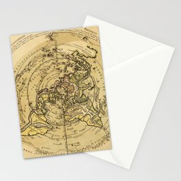 North Pole Centered World Map (1756) Stationery Cards