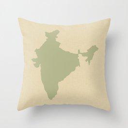Coriander Blue Spice Moods India Throw Pillow