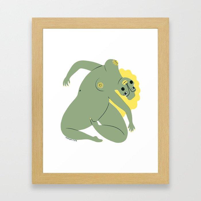 Nude by Veronique de Jong Framed Art Print